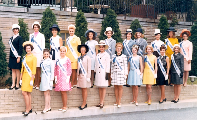 Miss America girls at the pool-leveled