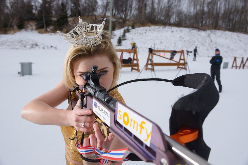 Miss Alaska 2015, Zoey Grenier's Anchorage Press photo shoot at Kincaid. Photo by James R. Evans