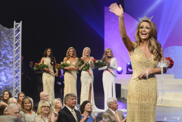Hannah Robison, Miss Scenic City, is announced as Miss Tennessee 2015 Saturday evening. MEGAN SMITH - Jackson Sun